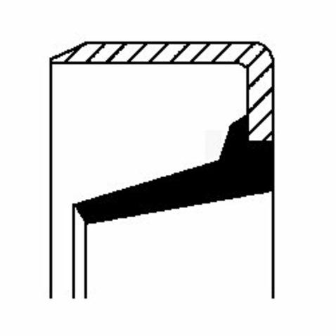 Pierscień uszczelniający wału skrzyni biegów CORTECO 01017792B