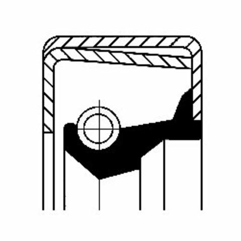 Pierscień uszczelniający wału skrzyni biegów CORTECO 12001577B