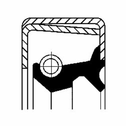 Pierscień uszczelniający wału skrzyni biegów CORTECO 12011392B