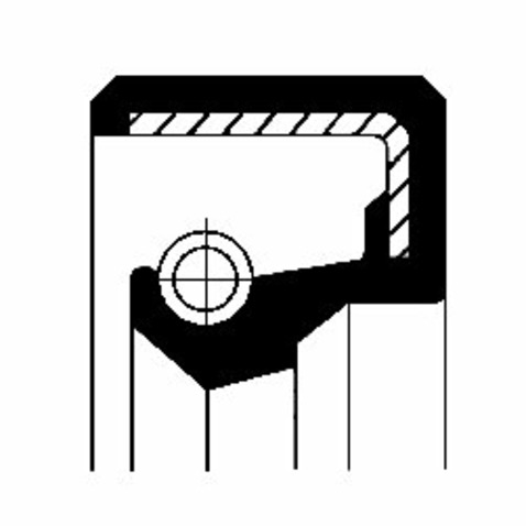 Pierscień uszczelniający wału skrzyni biegów CORTECO 12010800B