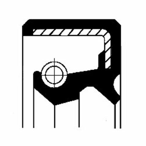 Pierscień uszczelniający wału skrzyni biegów CORTECO 12011126B