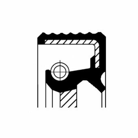 Pierscień uszczelniający wału skrzyni biegów CORTECO 01030457B