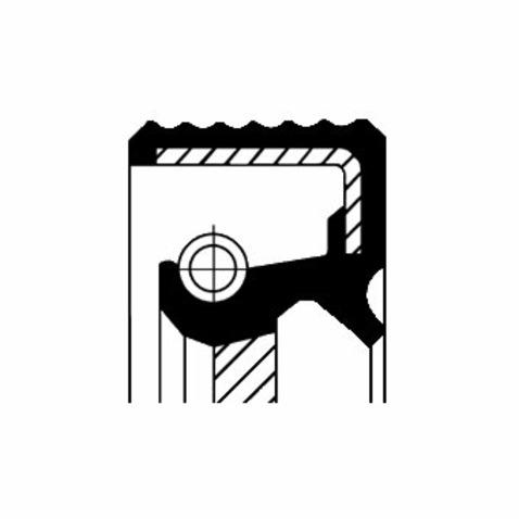 Pierscień uszczelniający wału korbowego CORTECO 20026412B