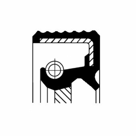 Pierscień uszczelniający wału skrzyni biegów CORTECO 01030104B