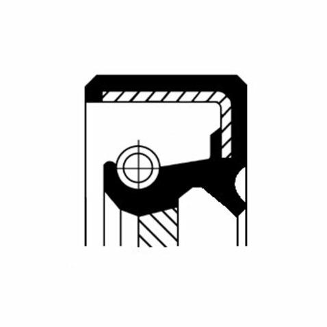 Pierscień uszczelniający wału korbowego CORTECO 19035205B