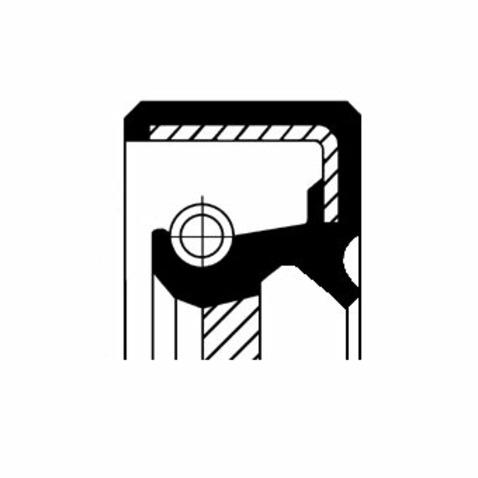 Pierscień uszczelniający wału skrzyni biegów CORTECO 19035393B