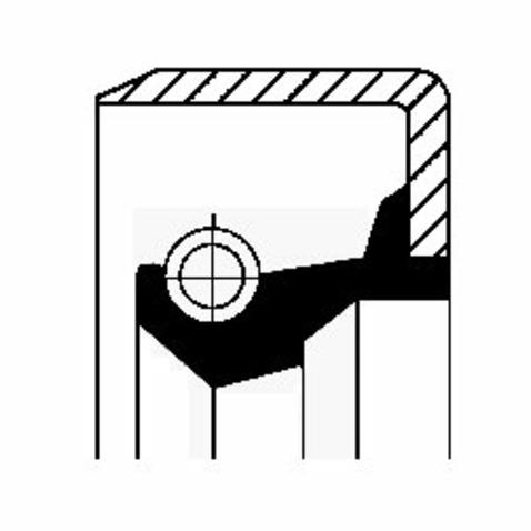 Pierscień uszczelniający wału skrzyni biegów CORTECO 19015082B
