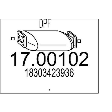 Filtr cząstek stałych (DPF) MTS 17.00102