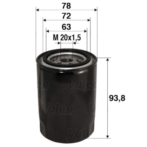 Filtr oleju VALEO 586080