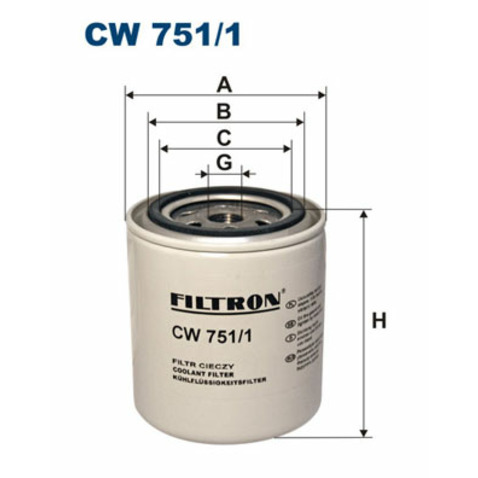 Filtr srodka chłodzącego FILTRON CW 751/1