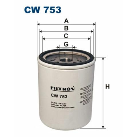 Filtr srodka chłodzącego FILTRON CW 753