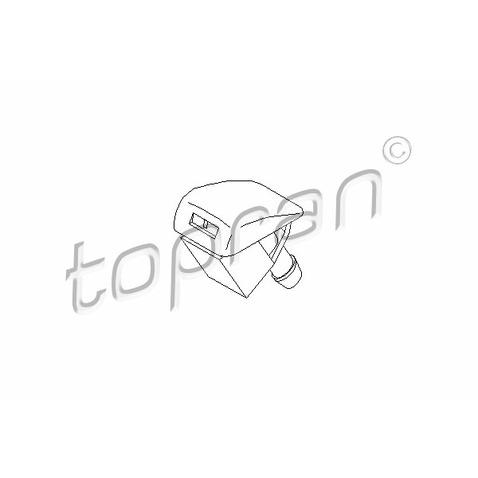 Dysza płynu spryskiwacza, spryskiwacz szyby czołowej TOPRAN 109 976