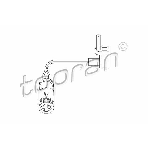 Czujnik zużycia klocków hamulcowych TOPRAN 401 203