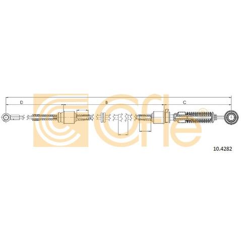 Naciąg linki, ręczna skrzynia biegów COFLE 10.4282