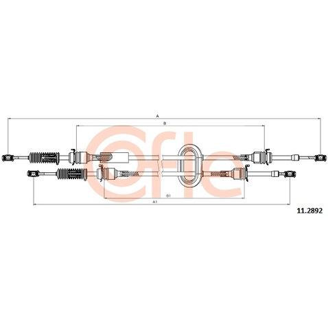 Naciąg linki, ręczna skrzynia biegów COFLE 11.2892