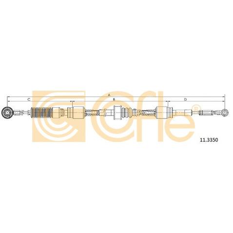 Naciąg linki, ręczna skrzynia biegów COFLE 11.3350