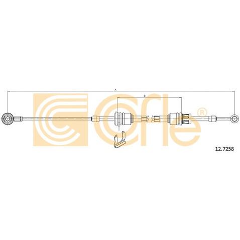 Naciąg linki, ręczna skrzynia biegów COFLE 12.7258