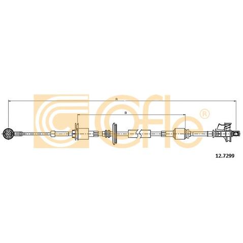 Naciąg linki, ręczna skrzynia biegów COFLE 12.7299
