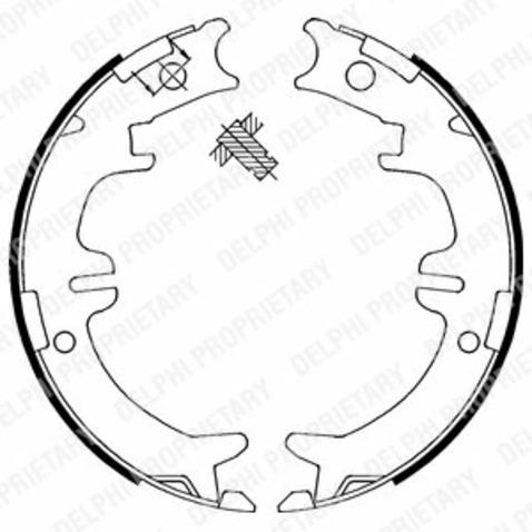 Szczęki hamulcowe hamulca postojowego - komplet DELPHI LS1892