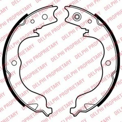 Szczęki hamulcowe hamulca postojowego - komplet DELPHI LS2008