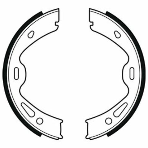Szczęki hamulcowe hamulca postojowego - komplet DELPHI LS2091