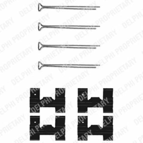 Zestaw akcesoriów klocków hamulcowych DELPHI LX0023