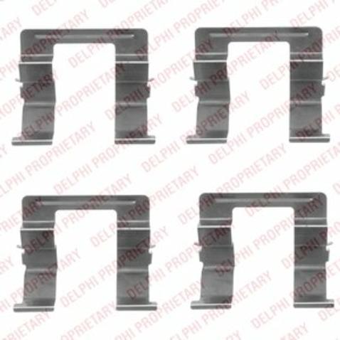 Zestaw akcesoriów klocków hamulcowych DELPHI LX0420