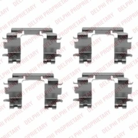 Zestaw akcesoriów klocków hamulcowych DELPHI LX0433