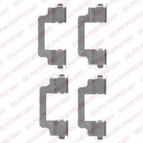 Zestaw akcesoriów klocków hamulcowych DELPHI LX0454