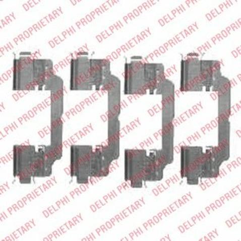 Zestaw akcesoriów klocków hamulcowych DELPHI LX0475