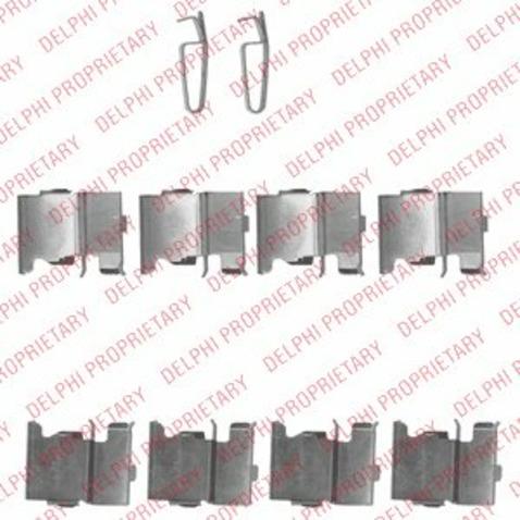 Zestaw akcesoriów klocków hamulcowych DELPHI LX0522